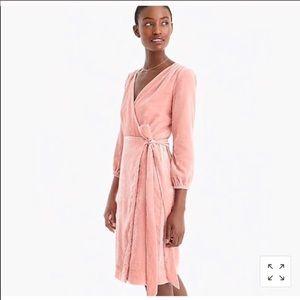 NEW JCREW Pink velvet wrap dress size 0